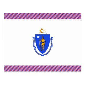 Bandera de Massachusetts Tarjetas Postales