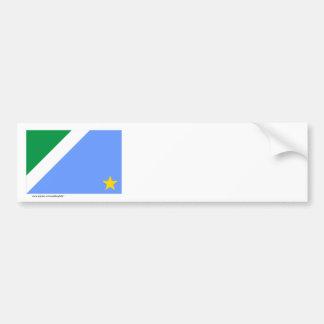 Bandera de Mato Grosso del Sur, el Brasil Pegatina Para Auto