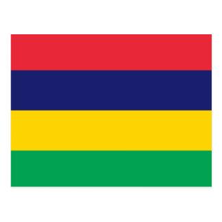 Bandera de Mauricio Tarjeta Postal