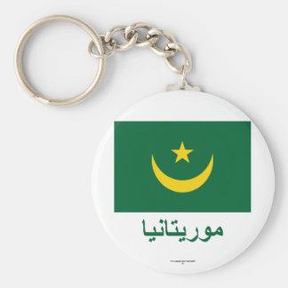 Bandera de Mauritania con nombre en árabe Llaveros Personalizados