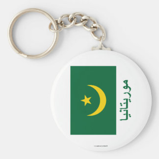 Bandera de Mauritania con nombre en árabe Llavero