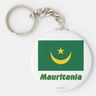 Bandera de Mauritania con nombre Llaveros