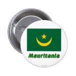 Bandera de Mauritania con nombre Pins