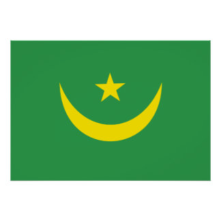 Bandera de Mauritania Poster