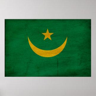 Bandera de Mauritania Impresiones
