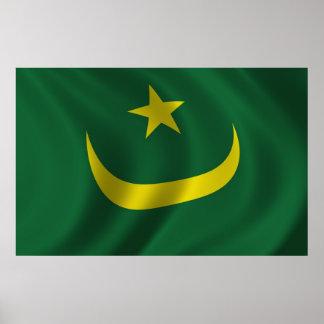 Bandera de Mauritania Posters