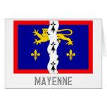 Bandera de Mayenne con nombre Tarjeta De Felicitación
