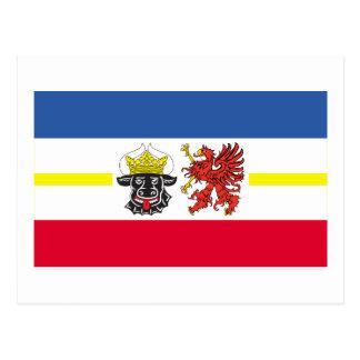 Bandera de Mecklemburgo-Pomerania Occidental Postales
