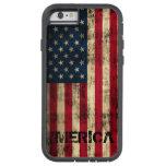 Bandera de Merica del Grunge personalizado del Funda De iPhone 6 Tough Xtreme