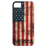Bandera de Merica del Grunge personalizado del iPhone 5 Case-Mate Funda