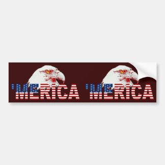 'Bandera de MERICA LOS E.E.U.U. y pegatina para el Etiqueta De Parachoque