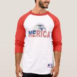 'Bandera de MERICA y camiseta de Eagle calvo