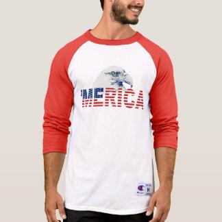 Bandera de MERICA y camiseta de Eagle calvo