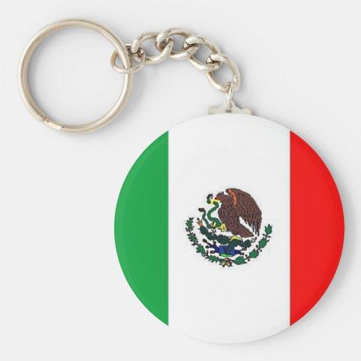 BANDERA DE MÉXICO - BANDERA MEXICANA NACIONAL LLAVERO REDONDO TIPO PIN