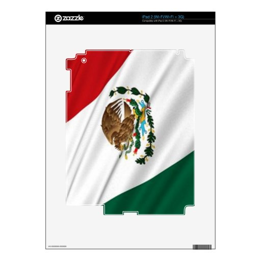 Bandera de México Calcomanía Para iPad 2