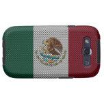 Bandera de México con efecto de la fibra de carbon Galaxy S3 Protector