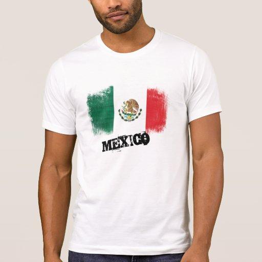 Bandera de México del Grunge Playera