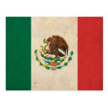 Bandera de México del vintage Tarjeta Postal