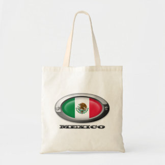 Bandera de México en el marco de acero Bolsa Lienzo