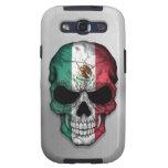 Bandera de México en un gráfico de acero del cráne Samsung Galaxy S3 Carcasa