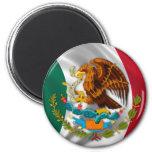 Bandera de México, escudo de armas Imán De Frigorífico