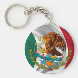 Bandera de México, escudo de armas Llavero Redondo Tipo Pin