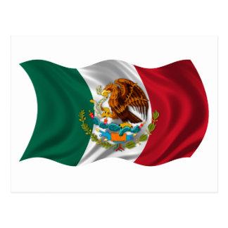Bandera de México, escudo de armas Postal