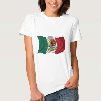 Bandera de México, escudo de armas Remeras