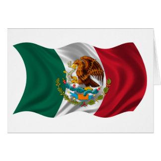 Bandera de México, escudo de armas Tarjeta De Felicitación