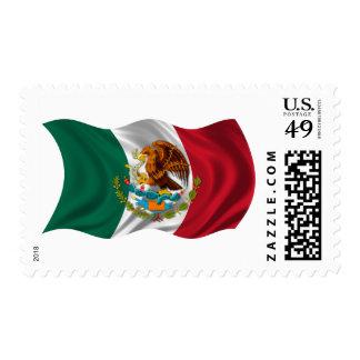 Bandera de México, escudo de armas Timbre Postal