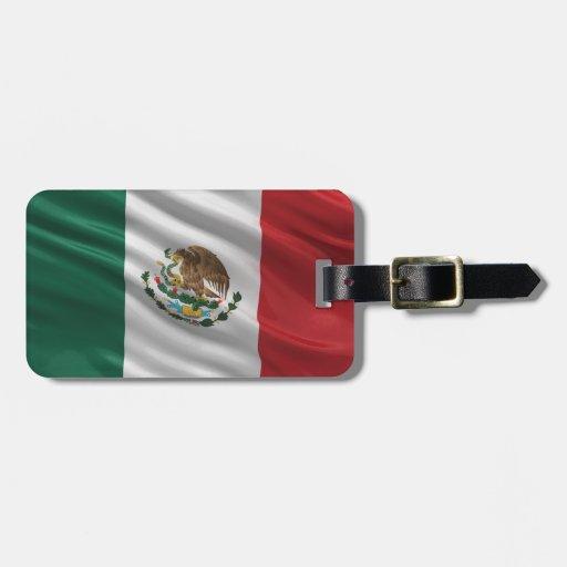Bandera de México Etiqueta De Maleta