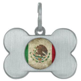 Bandera de México - Flag of Mexico Pet Name Tag