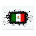 """Bandera de México Invitación 5"""" X 7"""""""