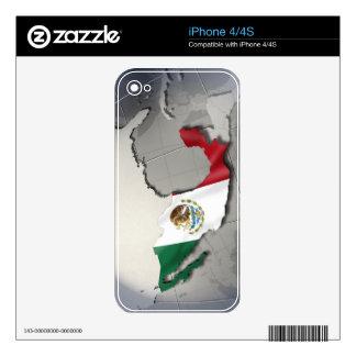 Bandera de México iPhone 4 Skin
