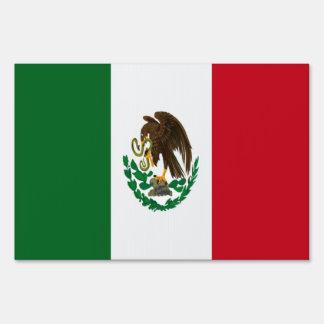 Bandera de México Letrero