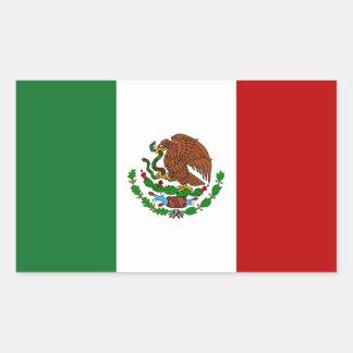 Bandera de México Rectangular Pegatina