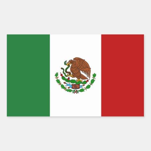 Bandera de México Pegatina Rectangular