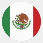 Bandera de México Pegatina Redonda
