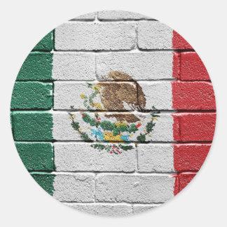 Bandera de México Pegatinas Redondas