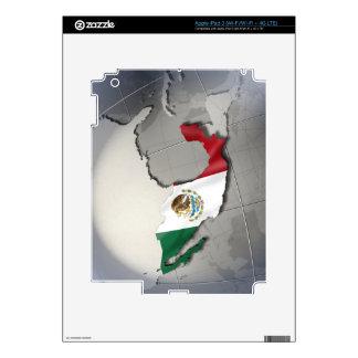 Bandera de México Pegatinas Skins Para iPad 3