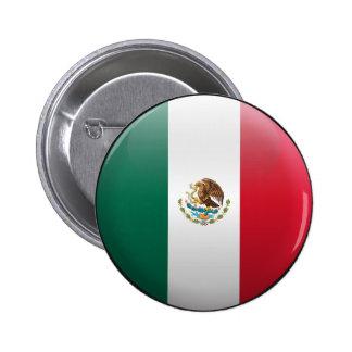 Bandera de México Pin Redondo 5 Cm