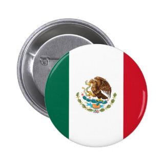 Bandera de México Pin Redondo De 2 Pulgadas