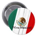 Bandera de México Pin Redondo De 3 Pulgadas