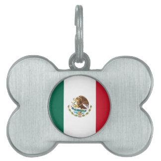 Bandera de México Placa De Mascota