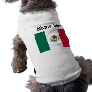 Bandera de México Camiseta De Perrito