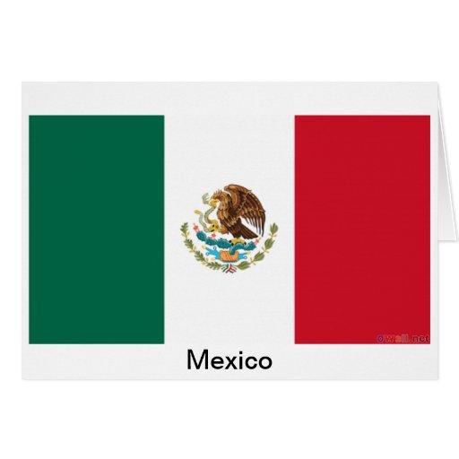 Bandera de México Tarjeta De Felicitación