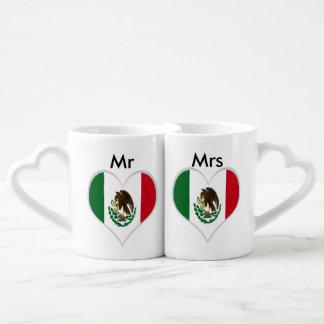 Bandera de México Taza Amorosa
