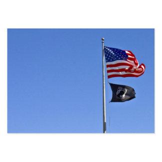Bandera de MIA del PRISIONERO DE GUERRA con vieja Tarjetas De Visita Grandes