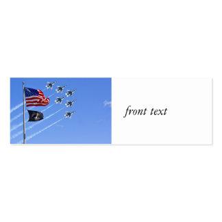 Bandera de MIA del PRISIONERO DE GUERRA con vieja Tarjetas De Visita Mini