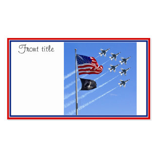 Bandera de MIA del PRISIONERO DE GUERRA con vieja Tarjetas De Visita